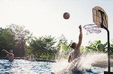 sport young men center